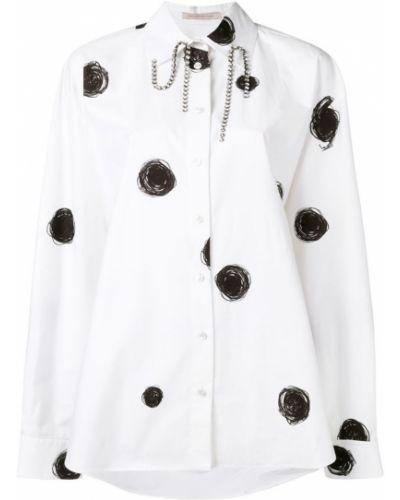 Рубашка белая с принтом Christopher Kane