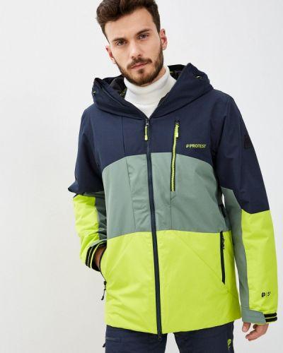 Зеленая куртка горнолыжная сноубордическая Protest