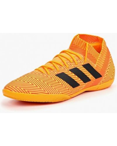Оранжевые бутсы зальные Adidas