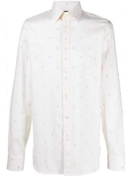 Bawełna z rękawami koszula z mankietami z kołnierzem Gucci