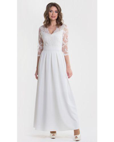 Кружевное нарядное с рукавами вечернее платье Filigrana