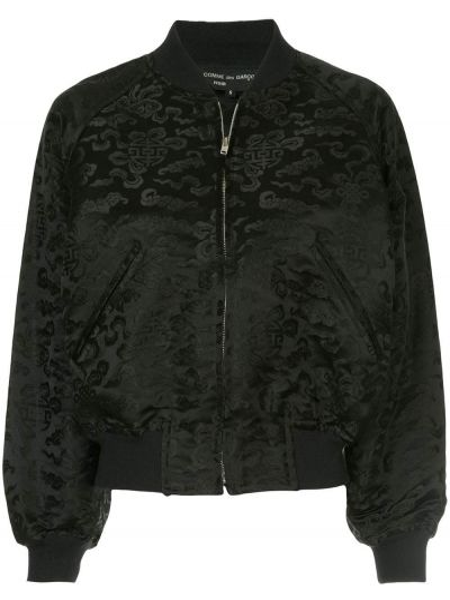 Шелковая черная куртка винтажная Comme Des Garçons Pre-owned