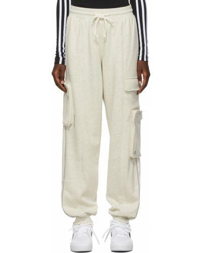 Белые брюки дудочки Adidas X Ivy Park