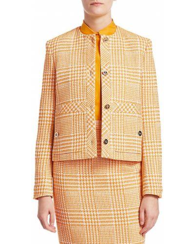 Длинная куртка - оранжевая Escada