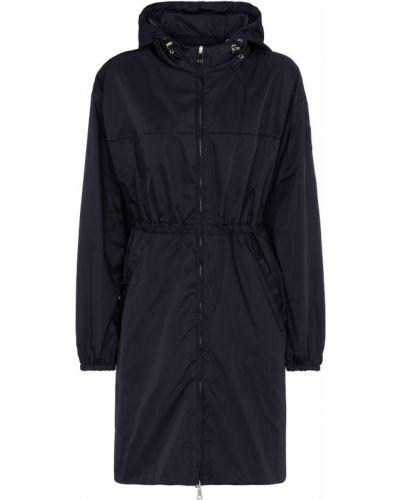 Niebieski płaszcz przeciwdeszczowy Moncler