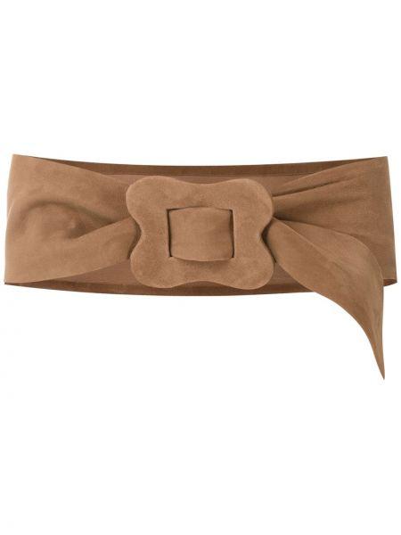 Коричневый кожаный ремень винтажный Sarah Chofakian