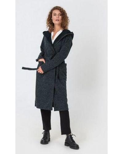 Шерстяное пальто - черное Vovk