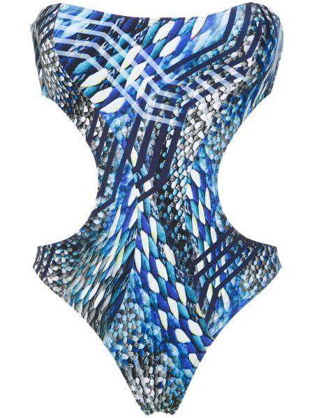 Синий слитный купальник Lygia & Nanny