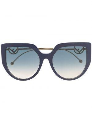 Okulary przeciwsłoneczne dla wzroku oko kota khaki Fendi Eyewear