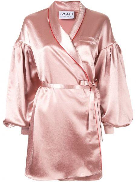 Облегченная розовая куртка с манжетами Osman