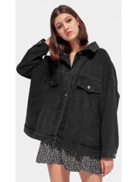 Джинсовая куртка черная весенняя Dorogobogato