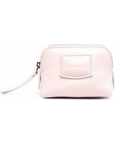 Кожаный кошелек - розовый Longchamp