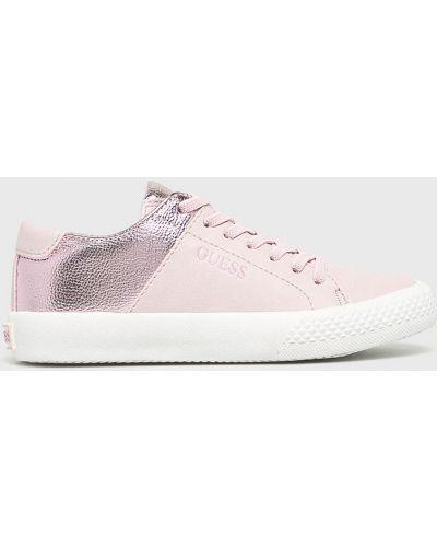 Кеды текстильные розовый Guess Jeans