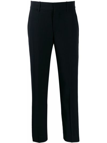 Черные укороченные брюки с карманами узкого кроя с потайной застежкой Vince