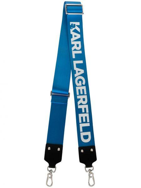 Ремень синий Karl Lagerfeld