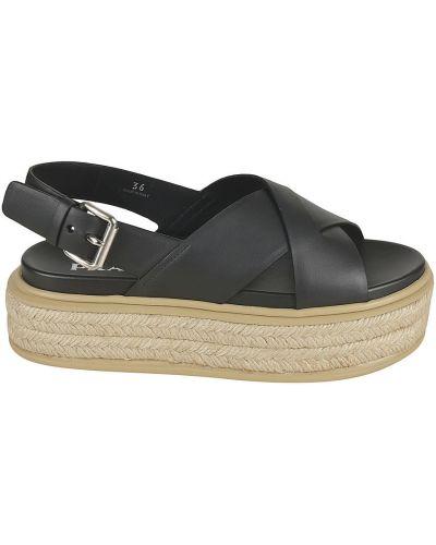 Czarne sandały Prada