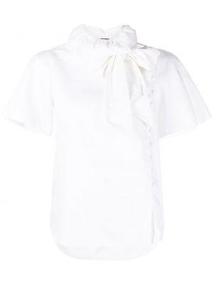 Блузка с короткими рукавами - белая Adam Lippes