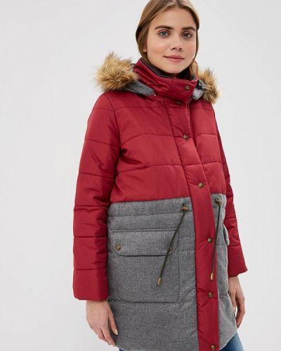 Утепленная куртка - красная мамуля красотуля ..в ожидании чуда