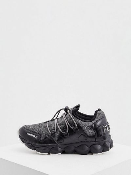 Спортивные черные текстильные кроссовки Plein Sport