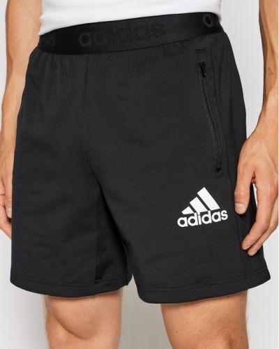 Czarne spodenki sportowe Adidas Performance