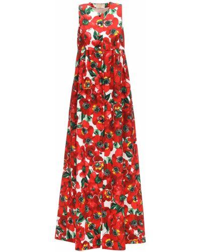 Плиссированное платье на пуговицах со складками без рукавов Sara Battaglia