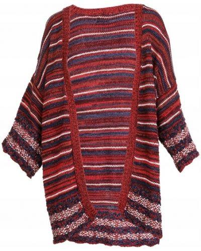 Wielokolorowy sweter w paski z akrylu Reserved