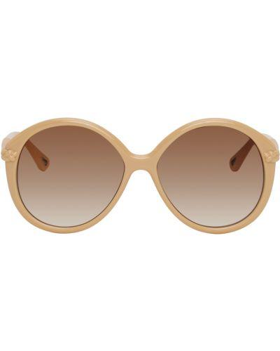 Złote różowe okulary Chloe