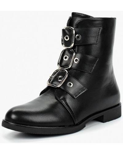 Кожаные ботинки осенние черные Style Shoes