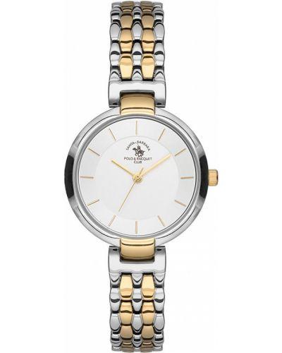 Водонепроницаемые часы с круглым циферблатом кварцевые Santa Barbara Polo & Racquet Club