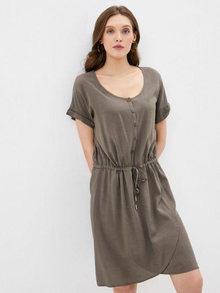 Зеленое платье Luhta