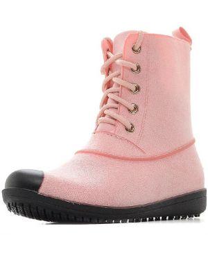 Ботинки на каблуке черные на шнуровке Moon River