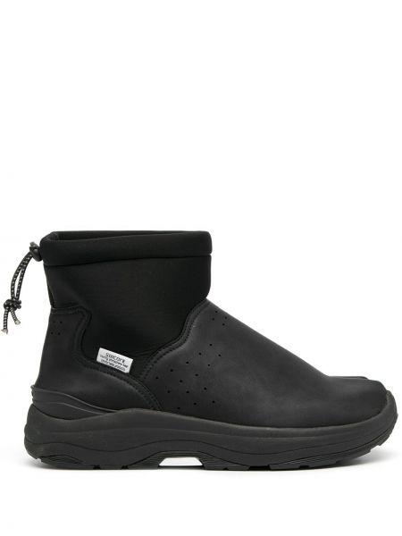Czarny buty sztuczna skóra okrągły nos okrągły Suicoke