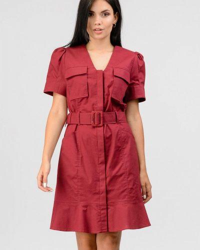 Бордовое платье летнее Raslov