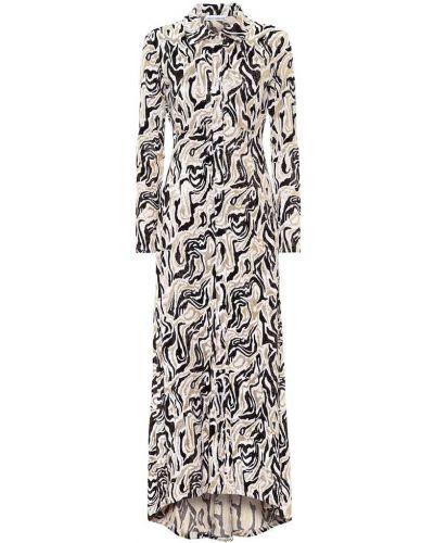 Платье макси из парчи Paco Rabanne