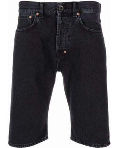 Czarne jeansy z paskiem bawełniane Prps