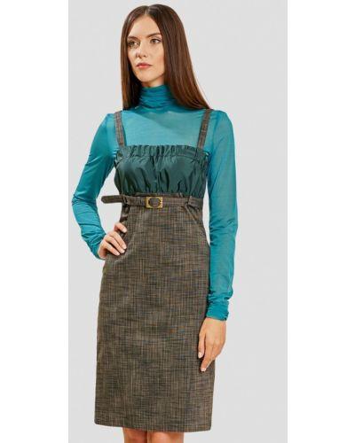 Платье серое платье-сарафан Ано