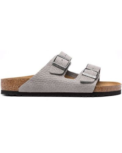 Sandały skórzane - białe Birkenstock