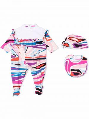 Piżama z długimi rękawami - różowa Emilio Pucci Junior