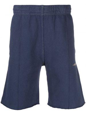 Niebieskie szorty bawełniane z haftem Phipps