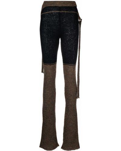 Czarne spodnie wełniane Ottolinger