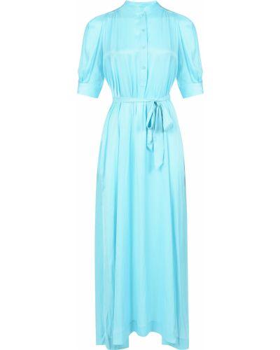 Платье из полиэстера - бирюзовое Zadig & Voltaire