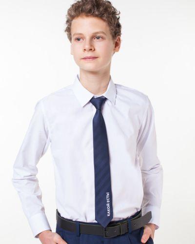 Школьный синий галстук из плотной ткани Orby
