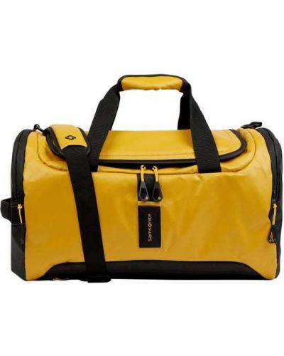 Włókienniczy z paskiem żółty torba kosmetyczna z zamkiem błyskawicznym Samsonite