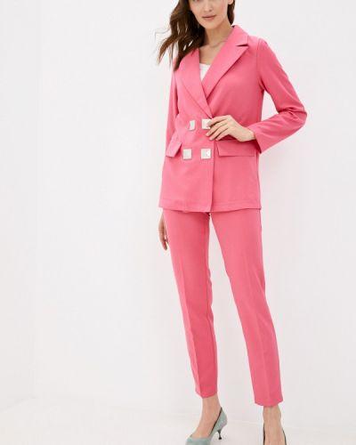 Костюмный розовый брючный костюм Miss Gabby