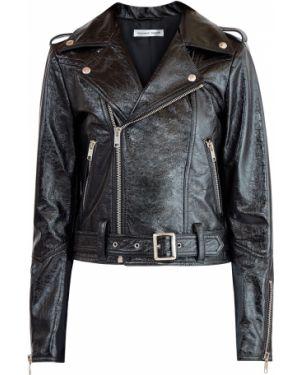 Кожаная куртка черная байкерская Alexander Terekhov
