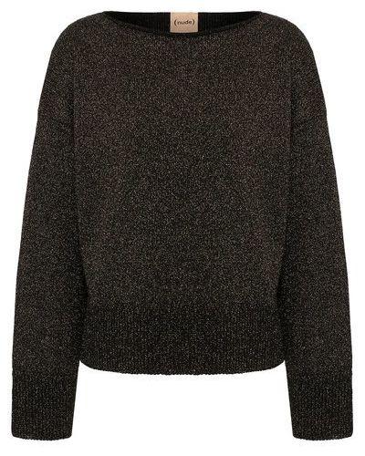 Трикотажный черный пуловер Nude