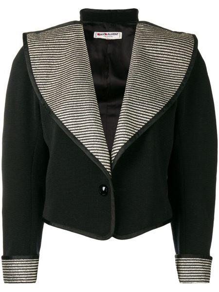 С рукавами черная куртка винтажная Yves Saint Laurent Pre-owned
