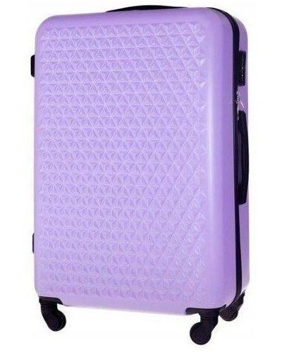 Wyposażone fioletowy walizka przeoczenie na uroczystość Solier