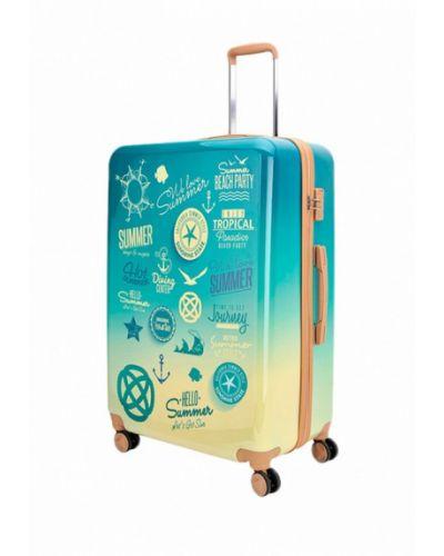 Бирюзовый чемодан Sunvoyage