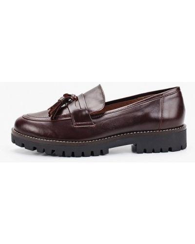 Кожаные туфли осенние бордовый La Coleccion